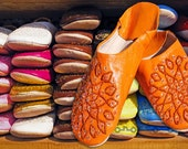 """15% OFF """"15SUN"""" Radiance Woman Slippers. Moroccan leather. Handmade"""
