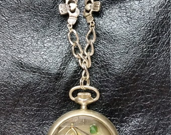 Irish Steampunk Pocket Watch for Time Traveling Claddagh