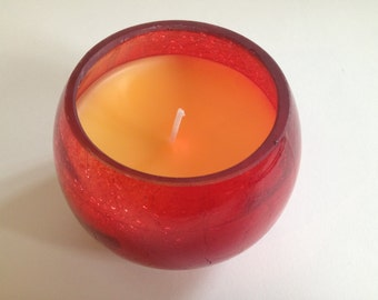 Smelling Sweet. Vanilla Scented Candle.