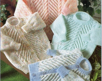Baby Knitting Pattern Childrens Knitting Pattern sweater jumper cardigan 16-26 inches DK  Baby knitting patterns PDF instant download