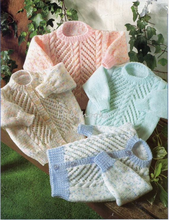Childrens Knitting Patterns To Download : Baby Knitting Pattern Childrens Knitting Pattern sweater jumper cardigan 16-2...