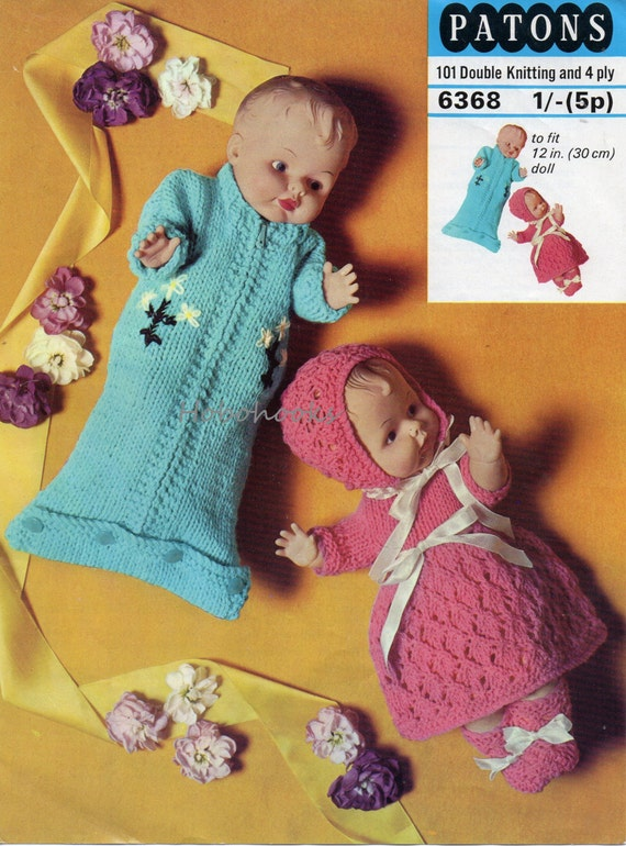 Baby Doll sleeping bag dress bonnet and booties 12 by Hobohooks