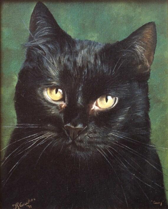 Custom Cat Portrait Pet Portrait Cat Painting Oil Painting