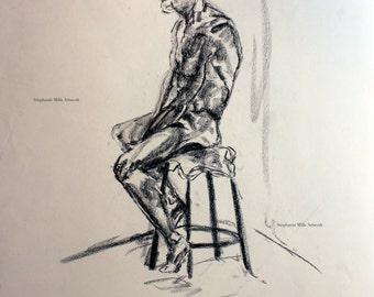 charcoal figure drawing No. 7