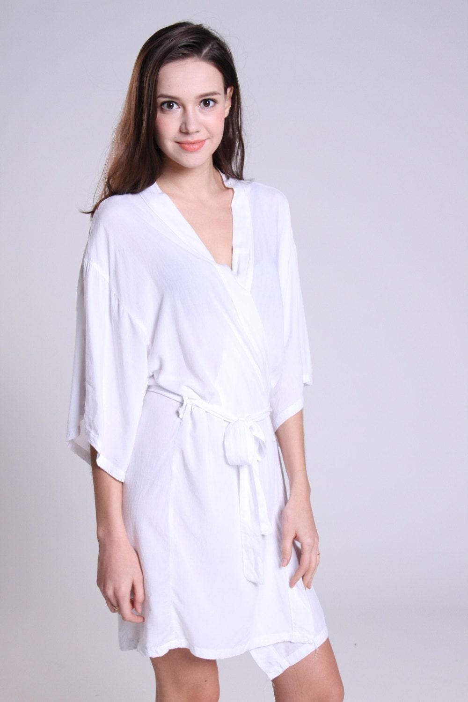 White cotton robe night dresses cotton nightwear bride gifts