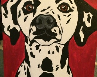 Original Acrylic Dalmation Dog Painting 18X24