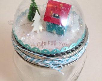 Snowglobe Mason Jar