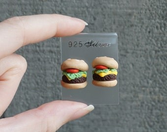 Burger Ear Studs Earrings