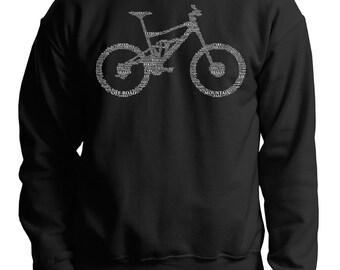 Bicycle Parts Sweatshirt Cool Sweatshirt Typography Sweater