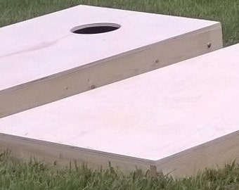 free and same day shipping non painted diy 1x4 cornhole board set no bags