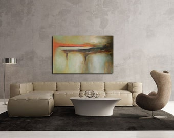 """Large Abstract  Original Acrylic art Painting 47.5"""" x 29.5 """"x 1.5"""" Ready to hang."""
