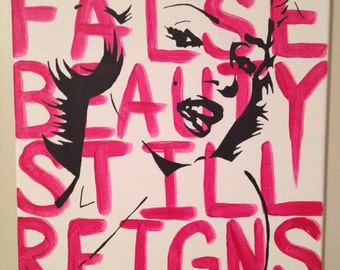 "False Beauty Original Acrylic Painting 12x12"""
