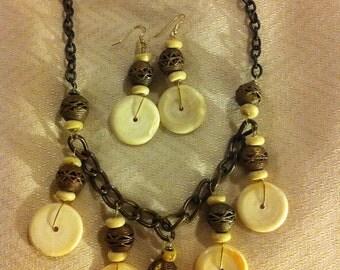 Bone and Copper Necklace