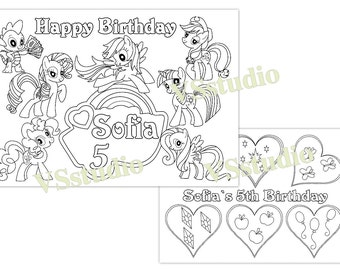 My Little Pony Birthday Party Coloring Pages Activity PDF File