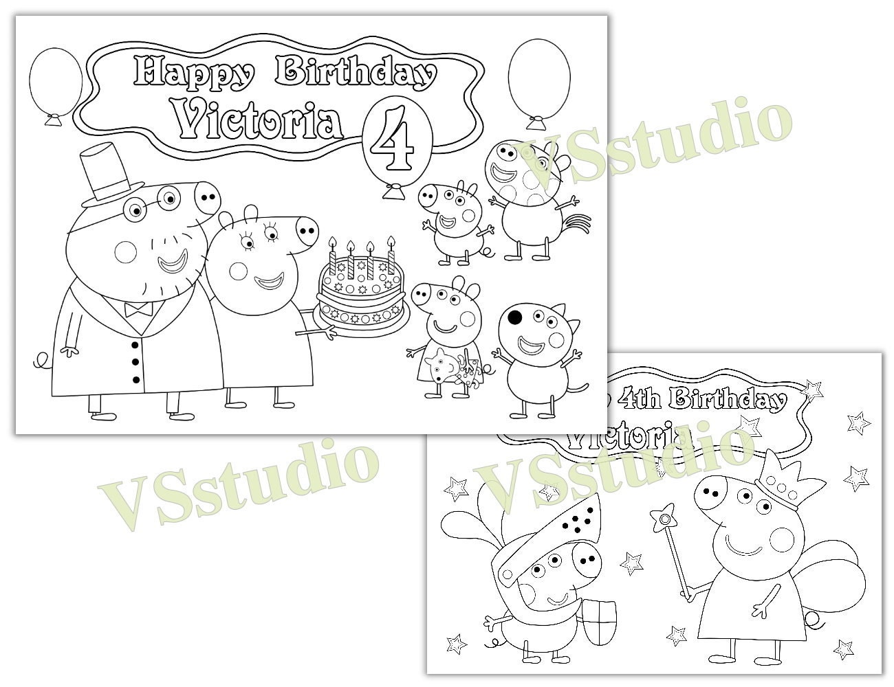 peppa pig birthday party favor peppa pig coloring page