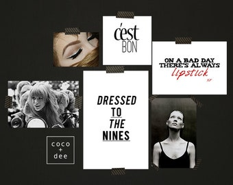 Fashion quotes, style typography, dressed to the nines, fashion typography, quote prints, stylish quotes, home decor, type wall art, posters