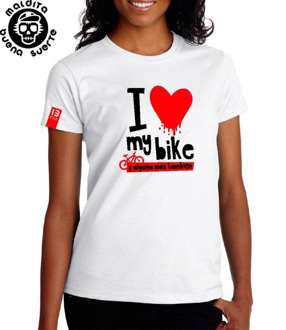I love my bike MBS girl t-shirt