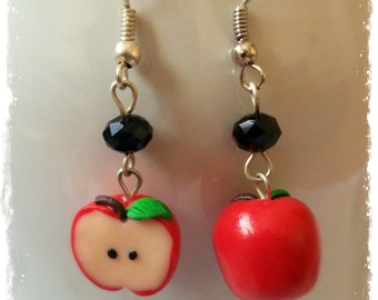Polymer Clay Apples Earrings