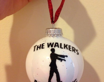 The walking dead zombie Christmas ornament