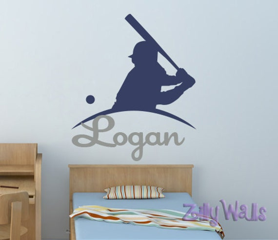 Name Wall Decal Baseball Room Decor