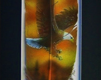 Flying Eagle - Russ Abbott - Original Hand Painted Feather
