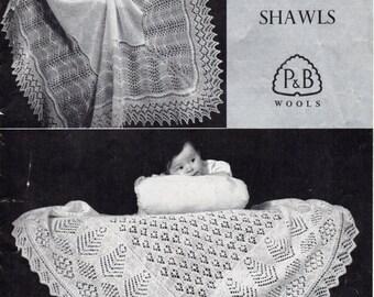 Baby Knitting Pattern Baby Shetland Shawls 2 Ply Shawls Square Shawls Baby Shawls Knitting Pattern 2Ply Yarn Traditional Shawls PDF Download