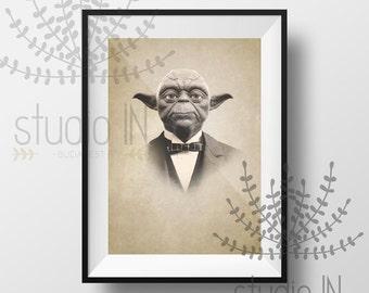 YODA! Sir Master Yoda - Star Wars character print, Yoda print, Vintage style print, Vintage Yoda, Yoda poster, Master Yoda, Star Wars print