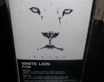 WHITE LION  Pride Cassette tape 1987 L.A. Hair Metal Mavens Headbandgers Ball Glam Rock  Michael Wagener Cougar Music Poison Motley Crue