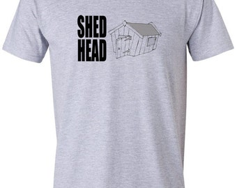 Funny tshirt- shed head t shirt, funny t-shirt, gardening gift, gifts for gardeners, gardening t shirt, mens tee shirts, dad birthday, uk