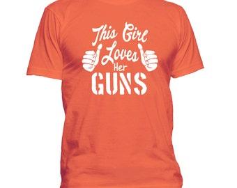 Second Amendment t shirt, Gun t shirt, This Girl Loves Her Guns T-shirt, right to bear arms t shirt 015-W