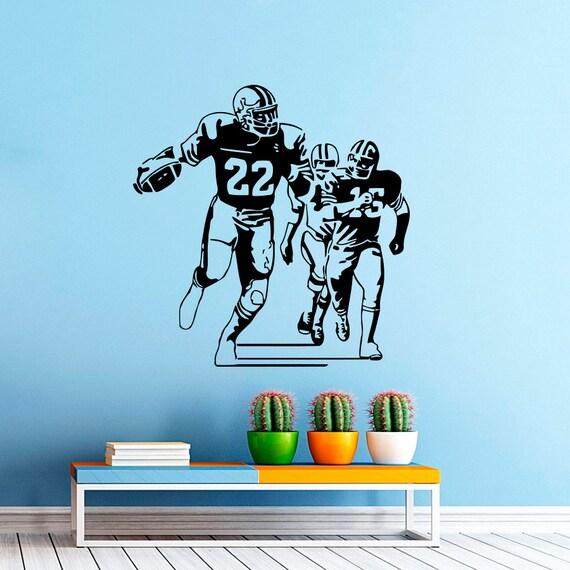 football player wall decal vinyl sticker sport wall decor home sports and football wall decals wall decal figure