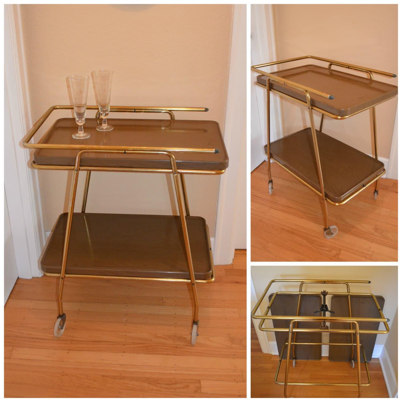 mid century bar cart vintage retro serving cart by. Black Bedroom Furniture Sets. Home Design Ideas