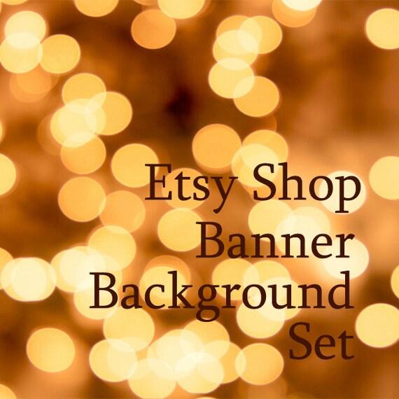 Items Similar To Gold Bokeh Lights Etsy Shop Banner
