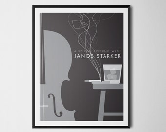 Janos Starker Print 18x24