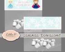 Frozen Treat Bag Topper. INSTANT DOWNLOAD. Frozen Favour Tag. Frozen Printable Favour Tag. Cute Elsa Treat Bag Tag. Frozen Thank you Tag 042