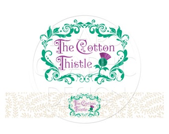Custom Business Logo with Blog or Website Header, Business Logo Design, Small Business Logo, Logo Design, Consultant, Coaching, Sewing