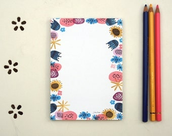 Blommen - notepad - A6 - 100% ECO