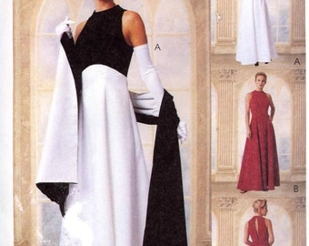 Bridesmaid dress Wedding party Grad gown sewing pattern McCalls 9406 Sz 8 to 12 UNCUT