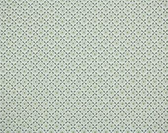 1950s Vintage Wallpaper - Green Geometric on White