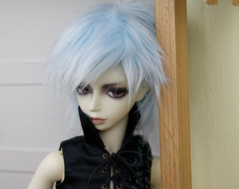 BJD Wig Sky Blue faux fur doll wig SIZE CHOICE