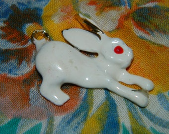 Jewelry Easter Rabbit Charm, Pendant, Peter Cotton Tail, Thumper, Charm Bracelet Charm, Easter Bunny, Hare Chinese Good Luck charms