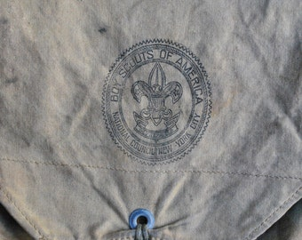 antique c. 1930s Boy Scouts of America ruck sack / backpack // National Council, New York City