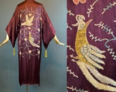 The Forbidden Birds ~ Vintage 20s Flapper Kimono ~ Tambour Embroidery ~ Tassels