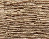 8/0 Metallic Gold Czech Glass Seed Bead Strand (CW15)
