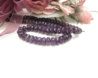 Amethyst 4 x 7 mm Faceted Rondelle Bead 1 strand 94  Beads Necklace Bracelet Earrings Jewelry Supply #B5