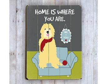 Goldendoodle Art, Golden Doole Art, Wooden Sign, Funny Dog Sign, Funny Dog Art, Dog Lover Gift, Wood Dog Sign, Wood Plank