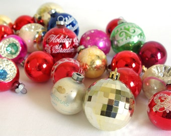Lot of Various Vintage Christmas Ornaments