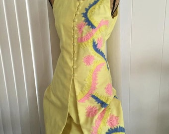 Simply Outrageous Women's Vintage 1960's Tropical Palm Springs Two Piece Leisure Suit