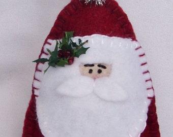 Santa Gift Card Holder Ornament with Pocket