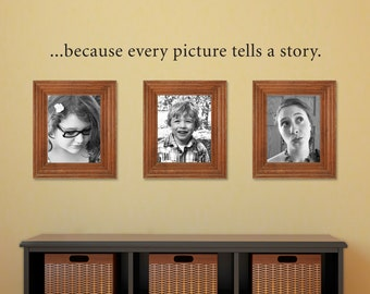 Picture tells a story Decal - Picture Wall Decal - Photo Wall Decal - Medium
